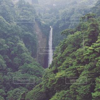 山の中の滝の写真・画像素材[2992601]