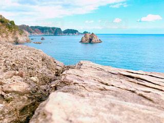 岩場から太平洋を望むの写真・画像素材[3007696]