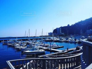青の港の写真・画像素材[2989945]