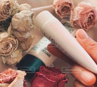 バラと手の写真・画像素材[3038129]