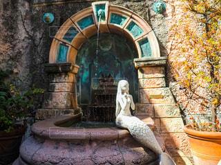 人魚の石像の写真・画像素材[3760051]