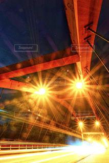 橋とレーザービーム!の写真・画像素材[3004856]