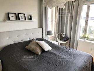 北欧スタイルのベッドルームの写真・画像素材[3006805]