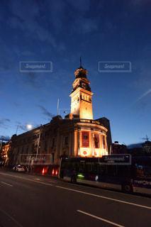 ライトアップされた建物。オークランドの写真・画像素材[3056198]