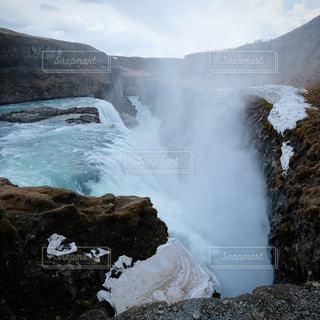 グトルフォスの滝。アイスランドの大瀑布。の写真・画像素材[3057357]
