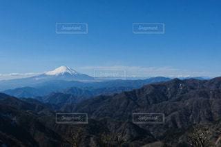 丹沢からの富士山の眺めの写真・画像素材[3308954]