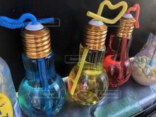 かわいいボトルのクローズアップの写真・画像素材[3009917]
