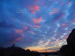 イタリアの夕暮れの写真・画像素材[3013996]