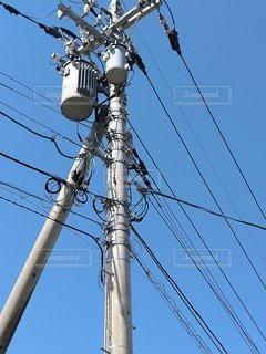 電信柱の写真・画像素材[3018399]