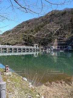ダム湖の写真・画像素材[3051987]