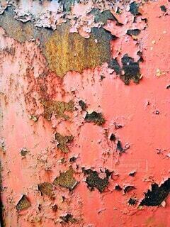 錆びた赤い鉄扉の写真・画像素材[4836638]