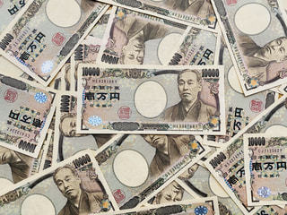 1万円札の写真・画像素材[3023515]