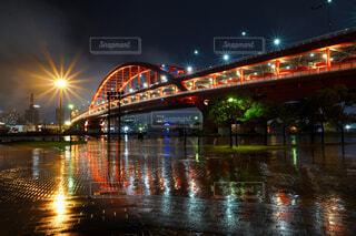 神戸大橋のライトアップの写真・画像素材[4228345]