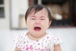 赤ちゃんの泣き顔の写真・画像素材[773459]