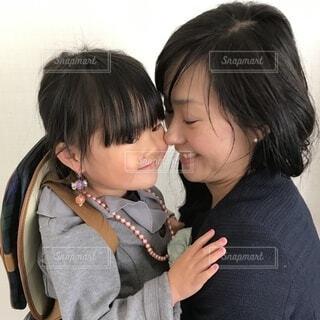 入園を迎えた親子の写真・画像素材[4197616]
