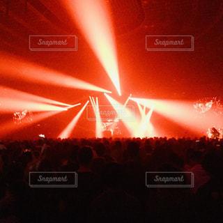 大阪城ホールのレーザービームの写真・画像素材[3024121]