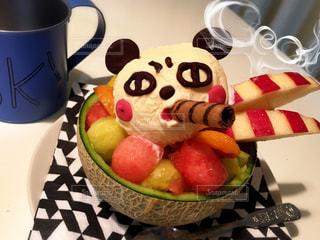 パンダのアイスクリームの写真・画像素材[3037783]