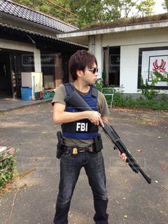 FBI捜査官のコスプレの写真・画像素材[3032443]