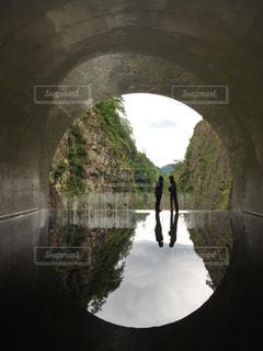 水鏡の写真・画像素材[3105789]