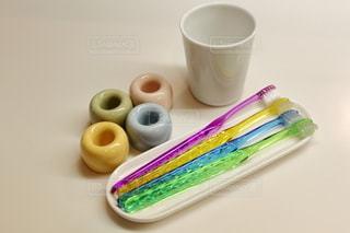 家族の歯ブラシの写真・画像素材[3218017]