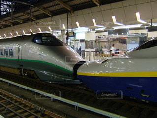 新幹線つばさ&MAX 連結の写真・画像素材[3596797]