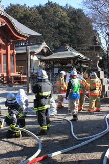 消防訓練の写真・画像素材[3854532]