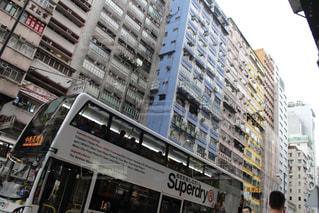 街路の二階建てバスの写真・画像素材[3206435]