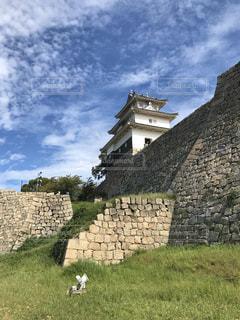 石垣の名城 丸亀城 縦写真の写真・画像素材[3033865]