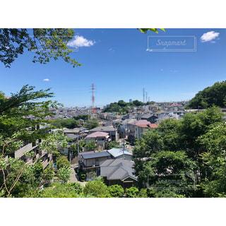 街と青空の写真・画像素材[3237426]