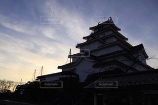 夕暮れの鶴ヶ城の写真・画像素材[3067905]
