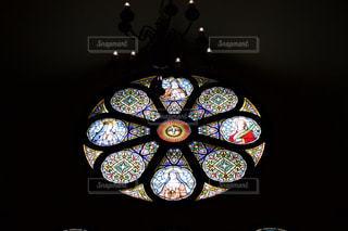 教会のステンドグラスの写真・画像素材[3074228]