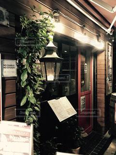 バーの入り口の写真・画像素材[255412]