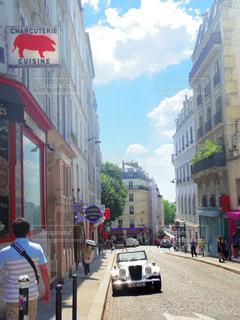 フランスの街の写真・画像素材[255941]