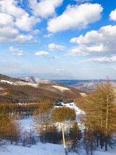 スキー場の見晴らしの写真・画像素材[396664]