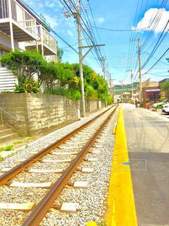 江ノ電の線路の写真・画像素材[518040]