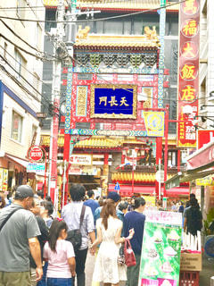 横浜中華街の写真・画像素材[671728]