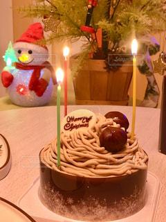 クリスマスケーキとキャンドルライト - No.930558
