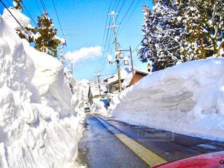 雪の壁の写真・画像素材[932424]