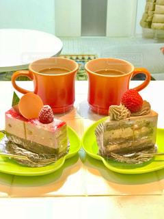 ケーキが二つの写真・画像素材[938080]