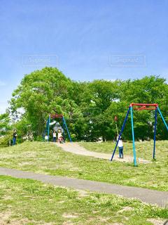 天気がいい日は公園での写真・画像素材[1172761]