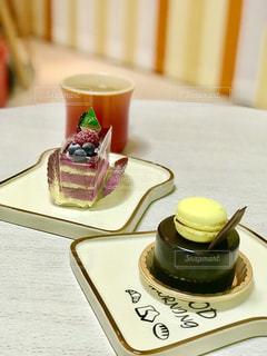 ショコラケーキで、ちょっとブレイクの写真・画像素材[1204145]