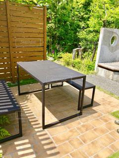 カフェがしたくなる庭の写真・画像素材[1215655]