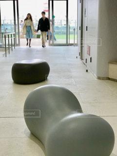 面白い形のベンチの写真・画像素材[1215681]