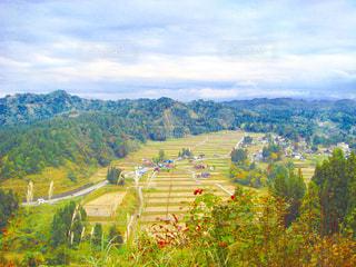棚田と集落の写真・画像素材[1287551]