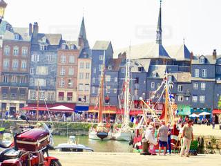 ノルマンディーの港町の写真・画像素材[1315002]