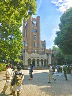 大学の時計塔の写真・画像素材[1365870]