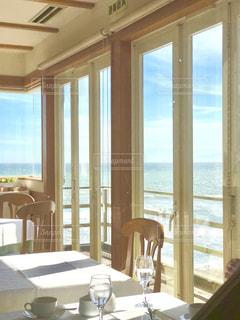 海の見えるテラスの写真・画像素材[1390435]