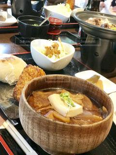 豚汁定食の写真・画像素材[1453971]