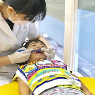 歯医者さんで定期検診の写真・画像素材[1478386]