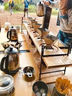 ドリップコーヒーのドリンクバーの写真・画像素材[1532966]